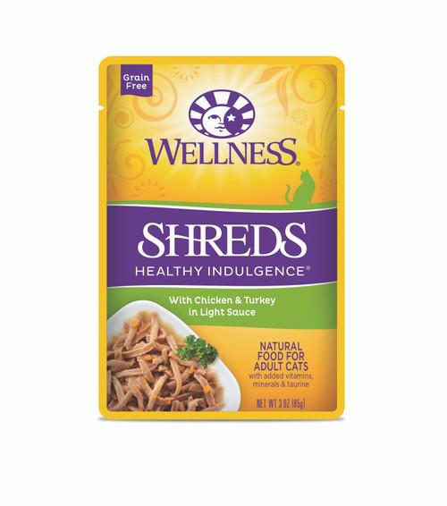 Wellness Healthy Indulgence Shreds Chicken & Turkey in Light Sauce Wet Cat Food