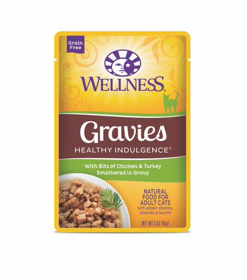 Wellness Healthy Indulgence Chicken & Turkey in Gravy Wet Cat Food