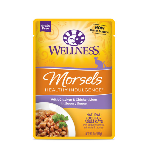 Wellness Healthy Indulgence Morsels Chicken & Chicken Liver in Savory Sauce Wet Cat Food