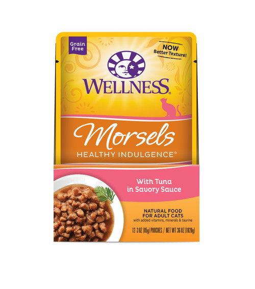 Wellness Healthy Indulgence Morsels Tuna in Savory Sauce Wet Cat Food