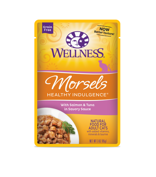 Wellness Healthy Indulgence Morsels Salmon & Tuna in Savory Sauce Wet Cat Food