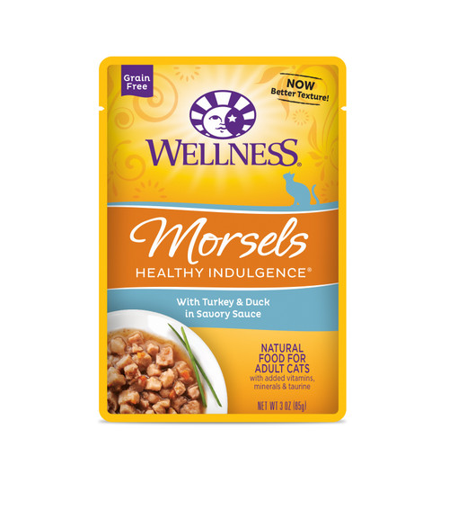 Wellness Healthy Indulgence Morsels Turkey & Duck in Savory Sauce Wet Cat Food