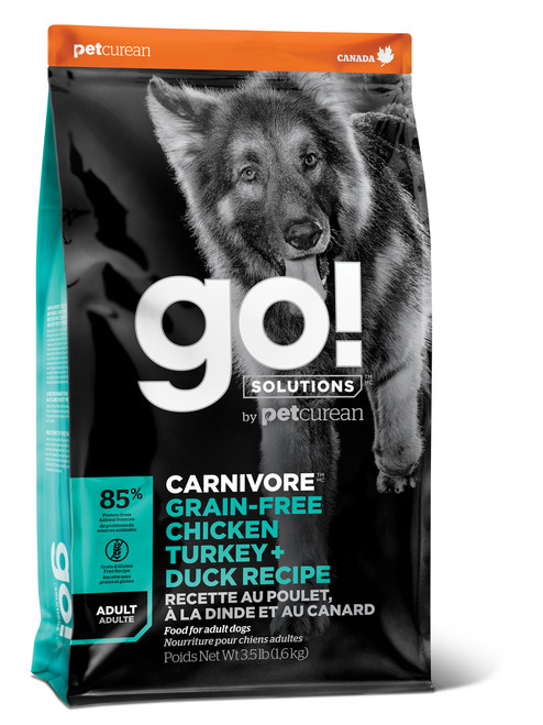 GO! Solutions Carnivore Chicken, Turkey & Duck Dry Dog Food