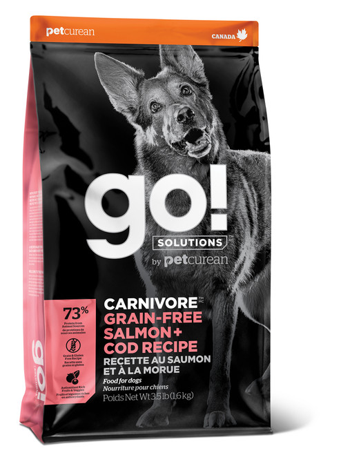 GO! Solutions Carnivore Salmon & Cod Dry Dog Food