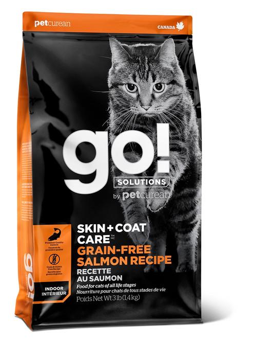GO! Solutions Skin + Coat Care Salmon Dry Cat Food