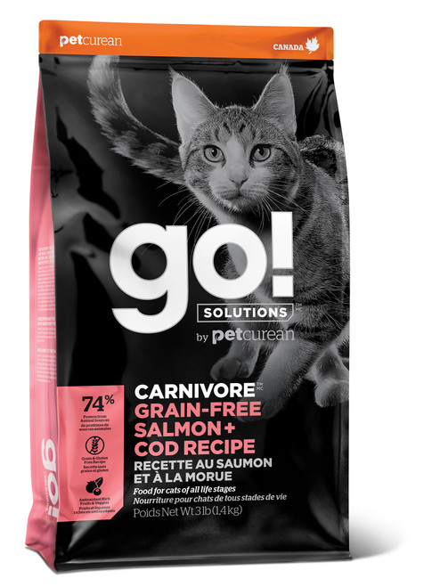 GO! Solutions Carnivore Salmon & Cod Dry Cat Food