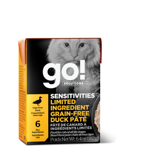 GO! Solutions Sensitivities Limited Ingredient Diet Duck Pate Wet Cat Food