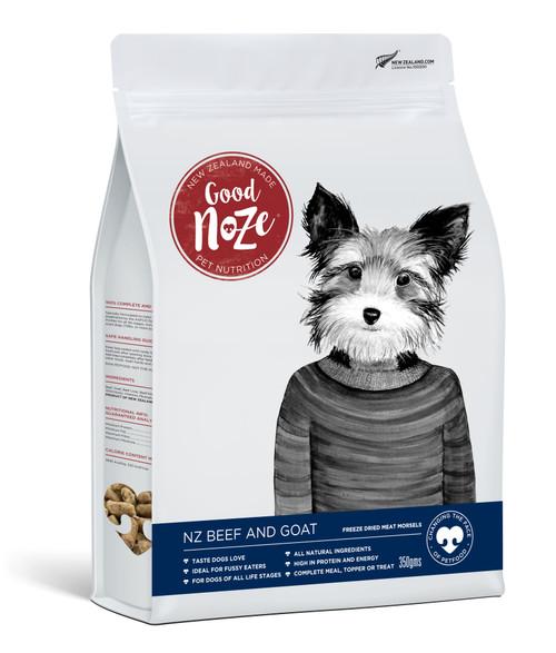 Good Noze NZ Beef & Goat Freeze Dried Dog Food