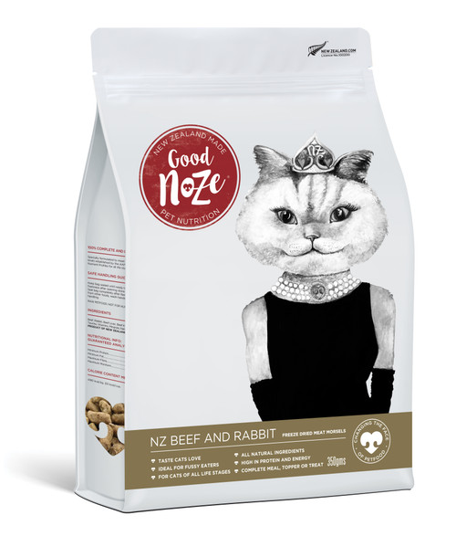 Good Noze NZ Beef & Rabbit Freeze Dried Cat Food