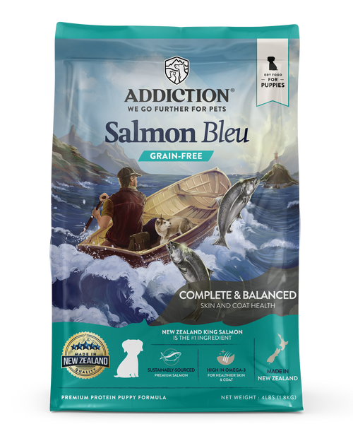 Addiction Grain-Free Salmon Bleu Dry Puppy Food