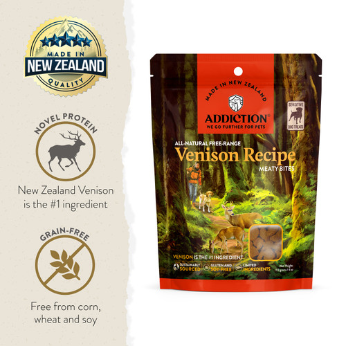 Addiction Grain-Free Venison Meaty Bites Dog Treats