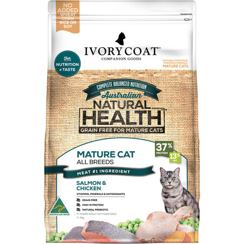 Ivory Coat Grain Free Ocean Fish & Chicken Dry Mature Cat Food