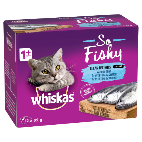 Whiskas So Fishy Ocean Delights in Loaf Wet Cat Food