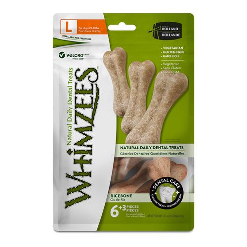 Whimzees Ricebone Dental Dog Treats