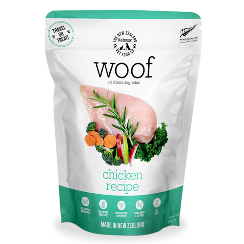 The NZ Natural Pet Food Co Woof Chicken Air Dried Dog Food