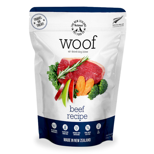 The NZ Natural Pet Food Co Woof Beef Air Dried Dog Food