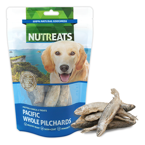 Nutreats Freeze Dried Whole Pacific Pilchards Dog Treats