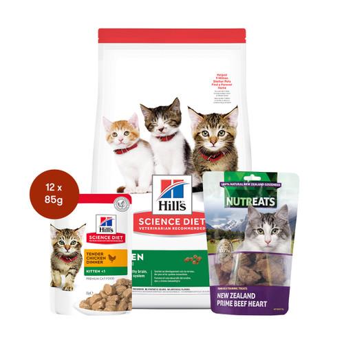 Hill's Science Diet Kitten Food & Treats Cat Bundle
