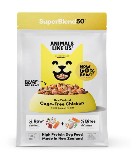 Animals Like Us SuperBlend50 Chicken & King Salmon Dog Food