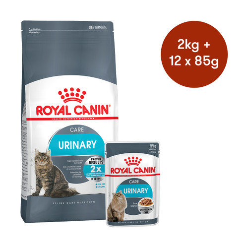 Royal Canin Urinary Care Dry + Wet Cat Food Bundle