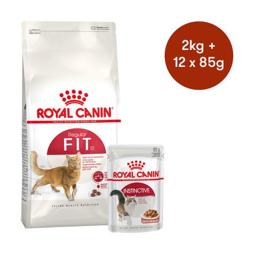 Royal Canin Fit Dry + Wet Cat Food Bundle
