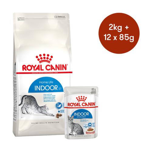 Royal Canin Indoor Dry + Wet Cat Food Bundle