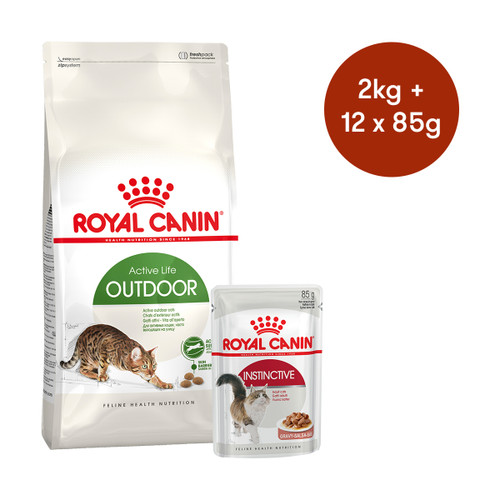 Royal Canin Outdoor Dry + Wet Cat Food Bundle