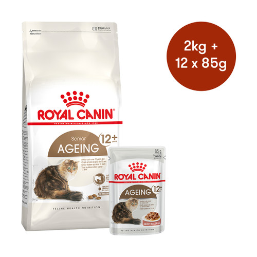 Royal Canin Ageing 12+ Dry + Wet Cat Food Bundle