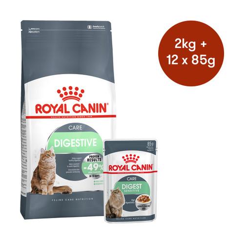 Royal Canin Digestive Care Dry + Wet Cat Food Bundle