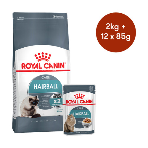 Royal Canin Hairball Care Dry + Wet Cat Food Bundle