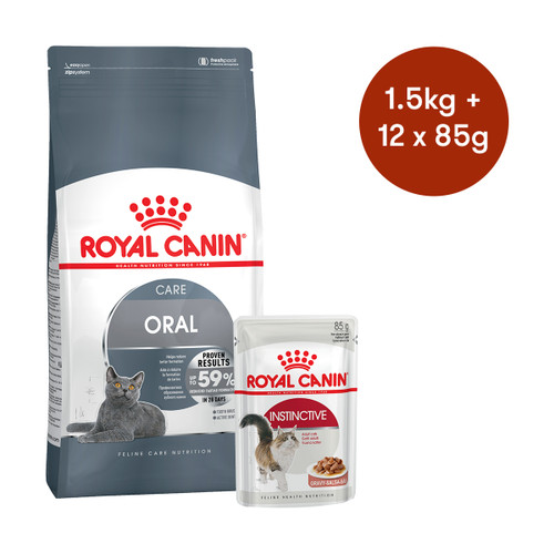 Royal Canin Oral Care Dry + Wet Cat Food Bundle