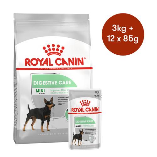 Royal Canin Mini Digestive Care  Dry + Wet Dog Food Bundle