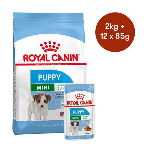 Royal Canin Mini Puppy Dry + Wet Dog Food Bundle