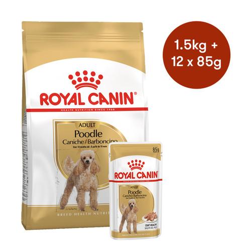 Royal Canin Poodle Adult Dry + Wet Dog Food Bundle