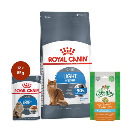 Royal Canin Light Weight Care Food & Treats Bundle