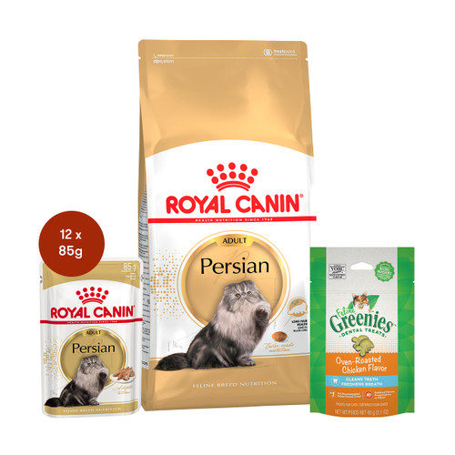 Royal Canin Persian Adult Food & Treats Bundle