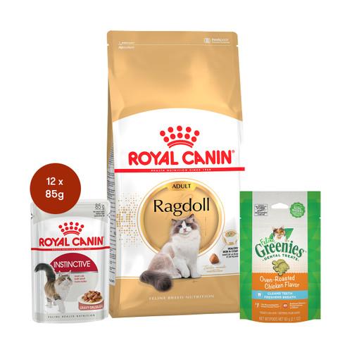 Royal Canin Ragdoll Adult Food & Treats Bundle