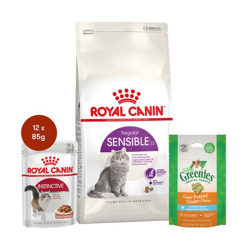 Royal Canin Sensible Food & Treats Bundle