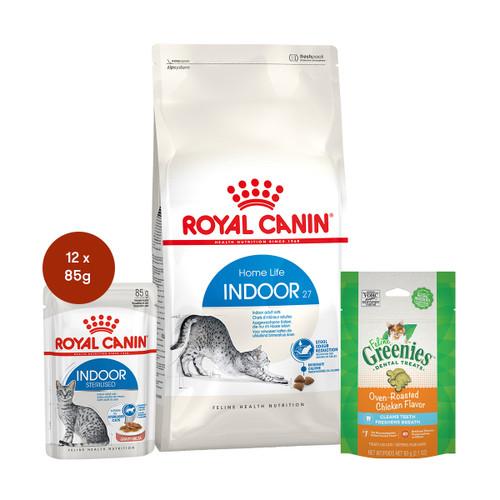 Royal Canin Indoor Food & Treats Bundle