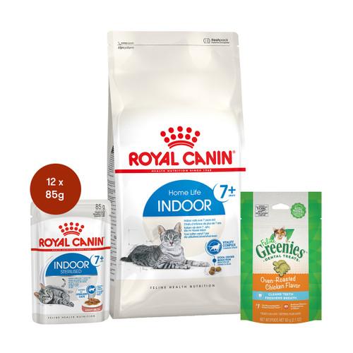 Royal Canin Indoor 7+ Food & Treats Bundle