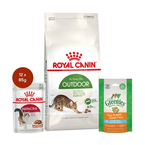 Royal Canin Outdoor Food & Treats Bundle