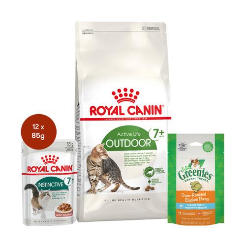 Royal Canin Outdoor 7+ Food & Treats Bundle