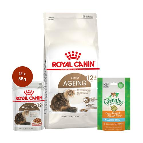 Royal Canin Ageing 12+ Food & Treats Bundle