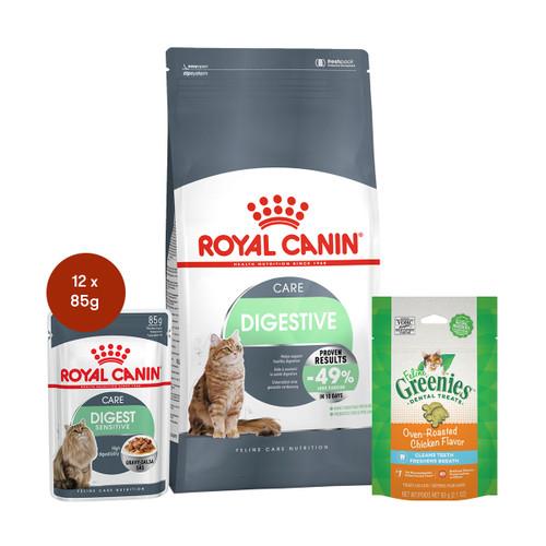 Royal Canin Digestive Care Food & Treats Bundle