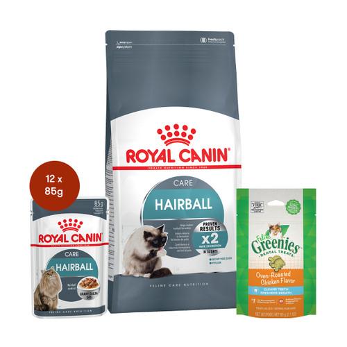 Royal Canin Hairball Care Food & Treats Bundle