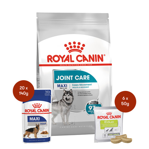 Royal Canin Maxi Joint Care Food & Treats Bundle