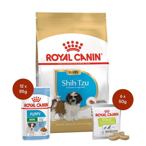Royal Canin Shih Tzu Puppy Food & Treats Bundle