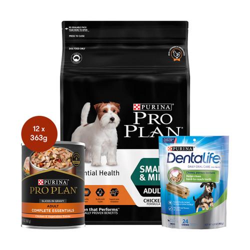 Pro Plan Adult Small & Mini Breed Chicken Food & Treats Bundle