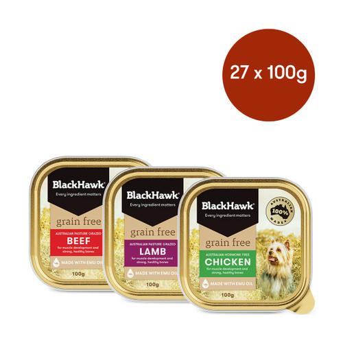 Black Hawk Adult Grain Free Mixed Flavours Wet Dog Food Bundle