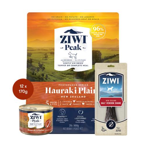 Ziwi Provenance Hauraki Plans Air Dried Dog Food & Treats Bundle